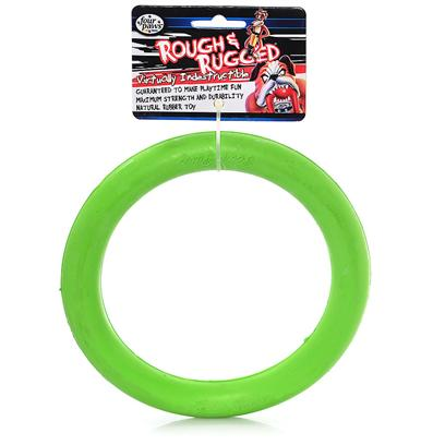 Four Paws Presents Rough &amp; Rugged Rubber Ring Float 7' Fp Toy. Part of a Complete Line of Unique and Traditional Style Toys Made with the Highest Grade of Rubber and Filled with Unique Polymers to Give Extra Bounce. 7&quot; [21715]