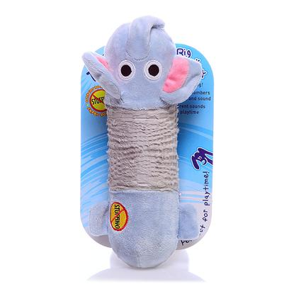 Petstages Presents Petstages Big Squeak Elephant. Innovative Design Replaces Typical Stuffing Found in Plush Toys with Two Large Squeakers no Stuffing = Safer Plush Toy. Two Squeakers with Different Sounds Signal Playtime! Squeakers Keep their Form Even if Squeaker if Punctured. Rigid Stability in Middle Keeps Shape. Elephant is Perfectly Sized for Medium to Large Size Breeds. Multiple Plush Textures Keeps Dog's Interest. Great Shape that is Easy to Carry and Toss. 5.5 X 12.25 X 2 [21754]