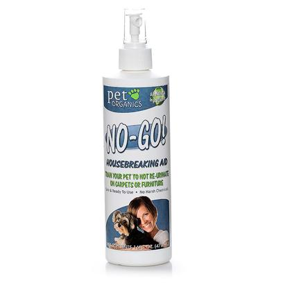 Pet Organics Presents no-Go Housebreaking Aid Spray 16oz. An Effective Aid for Training your Pet to not Re-Urinate on Carpets [21807]