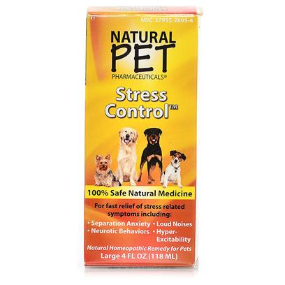 Tomlyn Presents Natural Pet Stress Control 4oz. Indications for Use for Fast, Safe Relief of a Wide Range of Stress Induced Problems Including Anxiety, Hyperexcitability, Fear, Nervousness, Separation Anxiety, Gastric Upset, Stress Licking, Eating Issues, Neurotic Behaviors, Fear and Phobias of Gunshots, Thunder, Fireworks and Sirens. 4 Ounce Bottle 100% Safe Natural Medicine [21924]