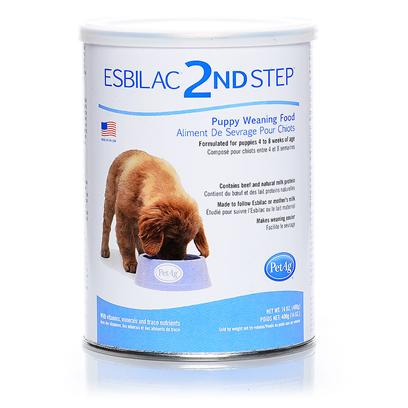 Petag Presents Esbilac 2nd Step-Puppy Weaning Food Ptag Step Pupy 1lb. Made in the Usa. A Highly Digestible Complete Food for Young Growing Puppies. Esbilac 2nd Step Puppy Weaning Food is a Creamy Transitional Cereal Developed to Follow Esbilac, for Easy Transition from Milk to Solid Food. It S Completely Balanced Nutrition Meets the Nutritional Requirements for Growth Established by the Association of American Feed Control Officials (Aafco). Esbilac 2nd Step Puppy Weaning Food has Superior Digestibility and Palatability. [21928]