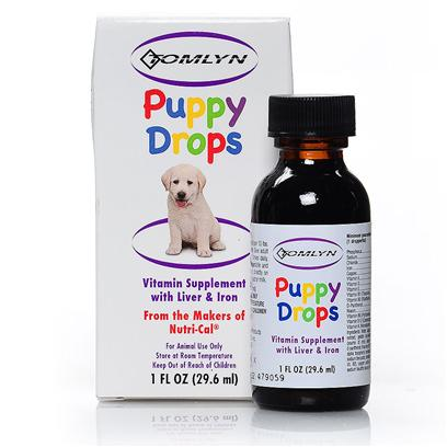 Tomlyn Presents Puppy Drops Liquid Vitamins 1oz Tomlyn. Contains Liver, Iron and Essential Vitamins High Potency Liquid Formula Helps Develop Healthy Puppies. May be Administered with Milk, Food or Straight from the Dropper 1 Ounce Bottle with Dropper [21932]