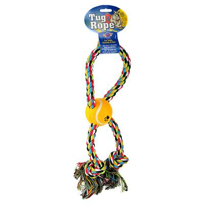 Blue Ribbon Presents Rope Tug with Tennis Ball Br 14'. Rope Tug with Tennis Ball [21950]