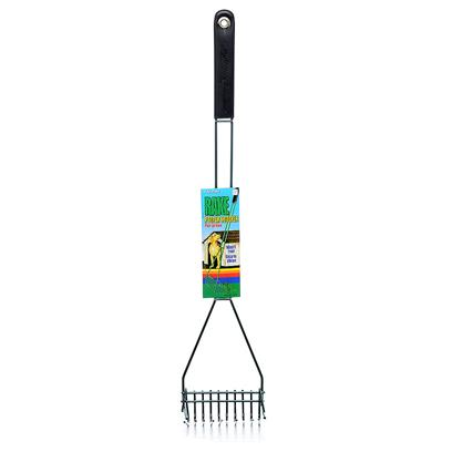 Four Paws Presents Four Paws Rake Pooper Scooper Fp Grass. Designed for Easy Pet Clean-Ups in Grassy or Sandy Areas. The Perfectly Spaced Metal Prongs Allow Quick and Easy Passage through Grass or Sand. This Scooper Features a Rubber Handle to Facilitate Ease of Use and Comfort. [21958]