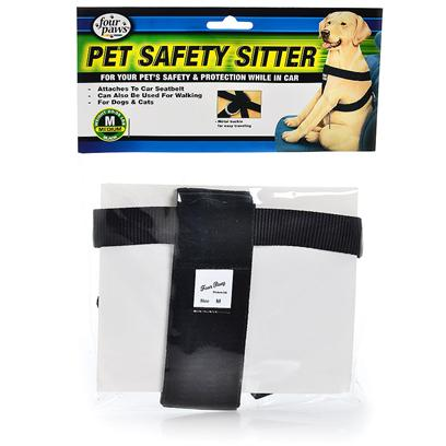 Four Paws Presents Pet Sitter Safety Car Harness-Fp Harness Medium (Med). Dog Owners can Now Rest Assured Knowing their Dog is Safe an Secure when Traveling in Cars with Four Paws Pet Safety Sitter. The Pet Safety Sitter Prevents Dogs from Jumping out or Disturbing Drivers and Passengers. Features a Hand Buckle that Attaches to Dog's Leash. X-Small [21986]