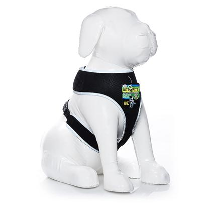 "Four Paws Presents Four Paws Nite Brite Reflecting Harness-Black X-Small. Four Paws Nite Brite Reflecting Harnesses Make Walking a Pet at Dusk, Night or Dawn Safer than Ever Before with our Newly Patented, Reflective Material. When Light, Either Directly or Indirectly ""Hits"" the Nite Brite Harness-it Literally Appears to ""Glow"" or Instantly ""Illuminate"". [21988]"