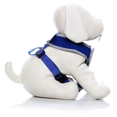 Four Paws Presents Reflective Safety Comfort Harness Blue-Fp Ref Saf Cmft Blue Medium (Md). Four Paws Nite Brite Reflecting Harnesses Make Walking a Pet at Dusk, Night or Dawn Safer than Ever Before with our Newly Patented, Reflective Material. When Light, Either Directly or Indirectly &quot;Hits&quot; the Nite Brite Harness-it Literally Appears to &quot;Glow&quot; or Instantly &quot;Illuminate&quot;. [21997]