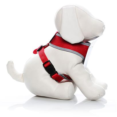 Four Paws Presents Reflective Safety Comfort Harness Red-Fp Ref Saf Cmft Red Medium (Md). Four Paws Nite Brite Reflecting Harnesses Make Walking a Pet at Dusk, Night or Dawn Safer than Ever Before with our Newly Patented, Reflective Material. When Light, Either Directly or Indirectly &quot;Hits&quot; the Nite Brite Harness-it Literally Appears to &quot;Glow&quot; or Instantly &quot;Illuminate&quot;. [22002]
