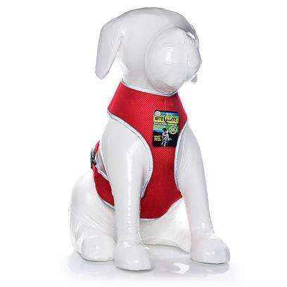 Four Paws Presents Four Paws Nite Brite Reflecting Harness-X-Large Red. Four Paws Nite Brite Reflecting Harnesses Make Walking a Pet at Dusk, Night or Dawn Safer than Ever Before with our Newly Patented, Reflective Material. When Light, Either Directly or Indirectly &quot;Hits&quot; the Nite Brite Harness-it Literally Appears to &quot;Glow&quot; or Instantly &quot;Illuminate&quot;. [22004]
