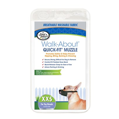 Four Paws Presents Quick Fit Muzzle-Size Fp Muzzle Size. Four Paws Quick Fit Muzzles are Made of Nylon and Completely Washable. The Quick Fit Muzzles do not have a Lot of Buckles that Always Need Adjustments. Only One Initial Fitting is Needed. Size 5xl [22024]