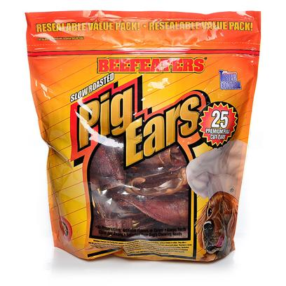 Beefeaters Presents Pig Hide Ears-25 Pack Beef Ears 25 Pk. Pig Hide Ears - 25 Pack [22058]