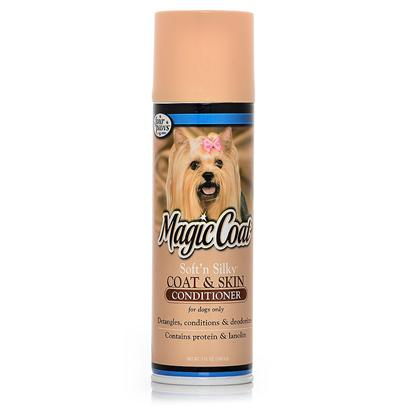 Four Paws Presents Soft 'N Silky Conditioner Spray 8oz Fp N Cond. Four Paws Soft 'N Silky Coat &amp; Skin Conditioner Contains Pure Protein and Lanolin. It Relieves Flaking and Dryness as it Conditions and Beautifies your Pet's Coat. Excellent for Use in Removing Knots and Tangles from Coat, it will Never Leave a Harsh Odor or Greasy Feeling. 7oz. (198.5g) 7 Oz. [22327]