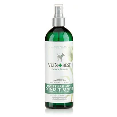 Bramton Company Presents Vets Best Moisture Mist Conditioner 16oz Cond. Dry Skin be Gone! Our Unique, Leave-in Blend with Vitamin B-5 and Skin Conditioners Moisturizes Dry, Sensitive Skin. It also Detangles and Adds Luster to Brittle Coats. Will not Affect Topical Flea Control. Use in Tandem with Hypo-Allergenic Shampoo. [22332]