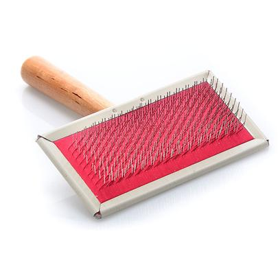Four Paws Presents Slicker Brush Fp Small. Four Paws Slicker Wire Brushes are Constructed for Long Lasting Use. They are Made with a Hard Wooden Handle, Stainless Steel Pins and Reinforced Rubber Pads. Small [22340]
