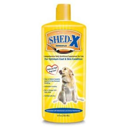 Synergy Labs Presents Shed X Dog 8oz Bottle. Shed-X Dermaplex is a Comprehensive Daily Nutritional Supplement for Dogs for Optimum Coat and Skin Condition. With a Delicious Taste Dog's Love, Shed-X is Formulated with Natural Ingredients, Vitamins and Minerals. Helps to Reduce Excessive Seasonal and Non-Seasonal Shedding Antioxidant Formula Rich in Omega 3&amp;6 Fatty Acids Fortified with Zinc [22385]