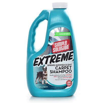 Bramton Company Presents Simple Solution Extreme Carpet Shampoo 1/2gallon Bram Simp Sol. Now you can do the Job of a Professional for a Fraction of the Cost by Using Simple Solution Carpet Shampoo. Formulated with the Same Advanced Cleansers Used by Professional Carpet Cleaners, this Shampoo Deep Cleans and Helps Renew Carpet and Fabric Color. This Low-Foaming Concentrate Works Great in all Brands of Home Extraction Machines. Highly Concentrated - Each Gallon Container Dilutes with Water to Make 32 Gallons! [22481]