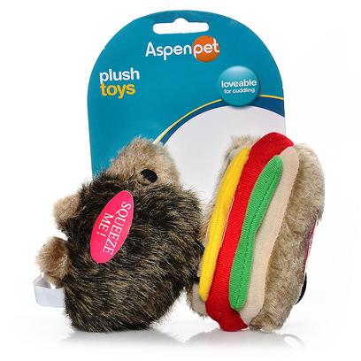 Petmate Presents Soft Bite 2 Pack-Small Hotdog & Small Hedgehog Aspen Sftbt (Sm) Htdg/Hdghog 2pk. Booda Classic Soft Bite ™ Toys Now Available in Sizes Perfect for your Small Dog or Puppy. Case Pk 30 [22492]