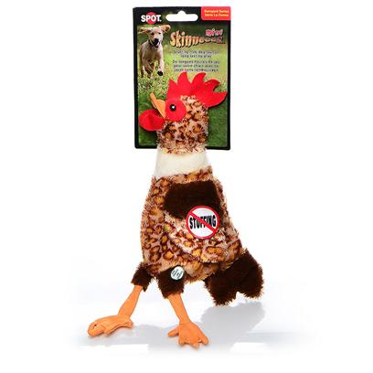 Ethical Presents Skinneeez Plush Chicken Mini 13' Spot Plsh Chick Min. Bring out your Dogs Natural Hunting Instinct. Dogs will Enjoy Hours of Entertainment Flip Flopping our Stuffing Free Skinneez Toys. All Skinneez Toys have 2 Squeakers. 1 in the Head and 1 in the Tail for Double the Fun. [22497]