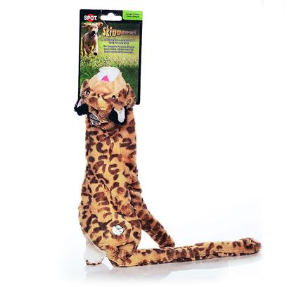 Ethical Presents Skinneeez Plush Jungle Cat Spot Plsh 25'. Bring out your Dogs Natural Hunting Instinct. Dogs will Enjoy Hours of Entertainment Flip Flopping our Stuffing Free Skinneez Toys. All Skinneez Toys have 2 Squeakers. 1 in the Head and 1 in the Tail for Double the Fun. [22503]