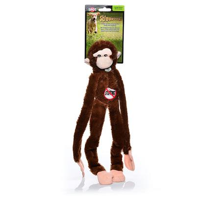 Ethical Presents Skinneeez Plush Monkey 16' Spot Plsh. Bring out your Dogs Natural Hunting Instinct. Dogs will Enjoy Hours of Entertainment Flip Flopping our Stuffing Free Skinneez Toys. All Skinneez Toys have 2 Squeakers. 1 in the Head and 1 in the Tail for Double the Fun. [22506]