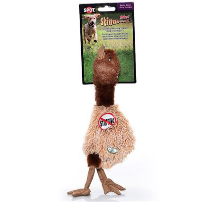 Ethical Presents Skinneeez Plush Ostrich Spot Plsh Ostrch 19'. Bring out your Dogs Natural Hunting Instinct. Dogs will Enjoy Hours of Entertainment Flip Flopping our Stuffing Free Skinneez Toys. All Skinneez Toys have 2 Squeakers. 1 in the Head and 1 in the Tail for Double the Fun. [22507]