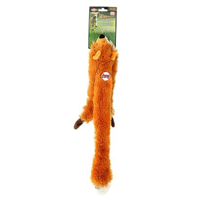 Ethical Presents Skinneeez Plush Fox Spot Mini. Bring out your Dogs Natural Hunting Instinct. Dogs will Enjoy Hours of Entertainment Flip Flopping our Stuffing Free Skinneez Toys. All Skinneez Toys have 2 Squeakers. 1 in the Head and 1 in the Tail for Double the Fun. [22510]