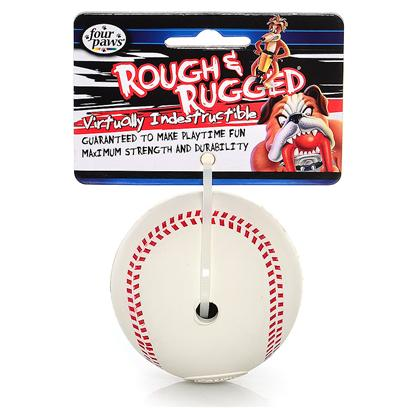 Four Paws Presents Rough &amp; Rugged Rubber with Bell Fp Toy Baskball. Part of a Complete Line of Unique and Traditional Style Toys Made with the Highest Grade of Rubber and Filled with Unique Polymers to Give Extra Bounce. 2.75&quot; [22529]
