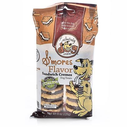 Exclusively Pets Presents Sandwich Cookie 8oz Ep Smores. Our Sandwich Creme Cookies were Created to Make Sure Dogs are Treated no Differently than Anyone Else in the Family. Hands Off! These Cookies are for Dogs! Made with Natural, Kosher Ingredients. Free of Animal Proteins, Parts, Bi-Products and Fillers. 8oz Package [22604]