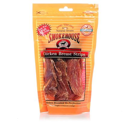 Smokehouse Presents Smokehouse Chicken Breast Tenders (Resealable Bag) Small (Sm) 4oz. Resealable Bag 100% Natural Smoked Chicken Jerky High in Protein Low in Fat, Made from the Finest Chicken. Slow Roasted to Perfection. Great Treat for your Dog. Great for Use as a Supplemental Treat [22664]