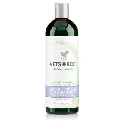 Bramton Company Presents Vets Best Hypo-Allergenic Shampoo 16oz Hypo-Allerg. Especially for Dogs with Seasonal Allergies. Our Soap-Free, Tearless Mix of Aloe Extracts and Vitamin E Soothingly Cleans and Moisturizes Sensitive Skin, Relieves Itching and Smoothes Dry, Brittle Coats. Will not Affect Topical Flea Control. Use with Moisture Mist™ Conditioner. [22821]