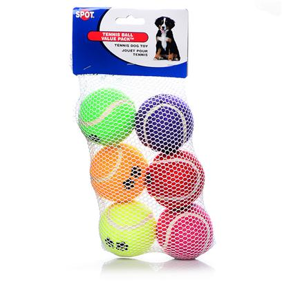 Ethical Presents Paw Print Tennis Balls Spot Pp Mint Balls-6pk. Mint Flavor Tennis Balls 6 Pk Mint Flavor, Paw Print Tennis Balls, Yum!! Hours of Chewing Fun [22942]