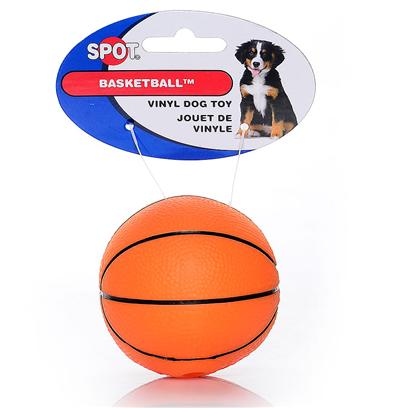 Ethical Presents Vinyl Basketball 3' Spot. Basketball 3&quot; Vinyl Basketball, Looks Real, Squeaky and Fun! [22952]