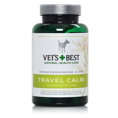 Bramton Company Presents Vets Best Travel Calm 40tab. Take the Torture out of Car Trips, or for that Matter, any Kind of Trip. Our Soothing, Calming Mix Gently Helps Ease the Stress and Tension from Travel, Motion and Loud Noises. Contains Ginger, a Common and Delicious Spice Traditionally Used to Help Maintain Normal Digestion and Calm Tummy Troubles. [23037]