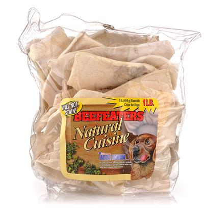 "Beefeaters Presents Value Pack Chips Beef 2lb. ""Made from 100% Highest Quality Natural Rawhide Available. No Artificial Preservatives, Colors, or Flavors Added. Helps Reduce Tartar & Massages Gums. "" [23065]"