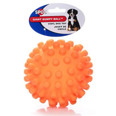 Ethical Presents Vinyl Heavy Duty Hedge Hog Ball 5' Spot Hv Hedgehog. Jumbo Knobby Ball 5&quot; Knobby Ball for Great Rolling Action and a Bright Easy to Find Color. [23131]