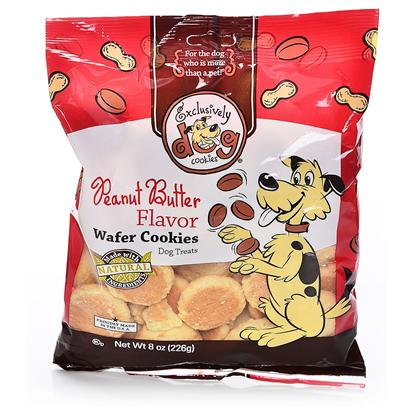 Exclusively Pets Presents Wafer Cookie 8oz Ep Carob Chip. These Classic Cookies Grow in Popularity Year After Year. They are a Great Treat for any Dog on any Occasion. Vanilla Flavored Wafers with a Hard Crunch. Made with Human-Grade and Kosher Ingredients. Free of Animal Proteins, Parts, Bi-Products and Fillers. 8oz Package [23182]