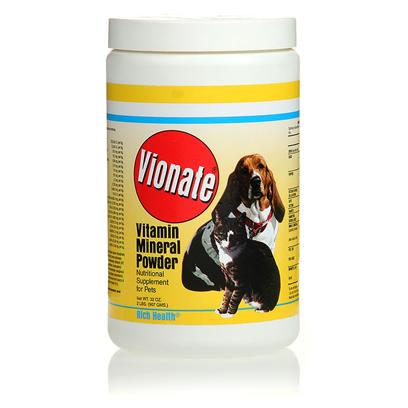 Rich Health Presents Vionate Vitamin/Mineral Powder R.H Vit Min P0wdr 10lb. Combination of 21 Vitamins and Minerals Offers Optimal Nutritional Support for Animals. Great for Breeding [23200]