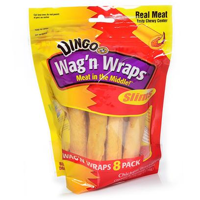 Dingo Brand Presents Wag'n Wraps Chicken Slim 9 Pk-9.75oz Dingo Ckn 8pk. Wag'n Wraps Chicken Slim 8pack Value Bag - 9.75 Oz [23216]