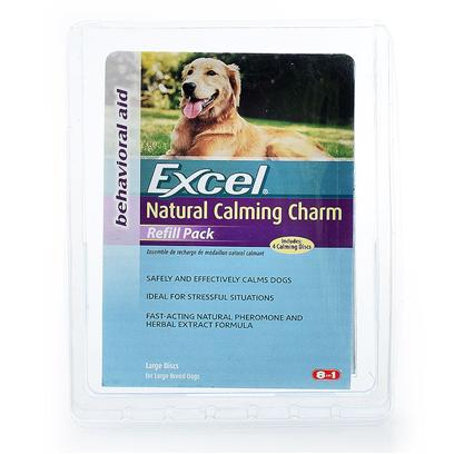8 in 1 Presents Excel Natural Calming Charm Refill Pack Collar Refill-Large. Refills for Excel Calm-Quil™ Natural Calming Charm Natural Pheromone and Herbal Formula [23386]