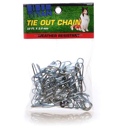 Coastal Presents C Chain Twisted Link Tieout 3.0mm-15ft Twst Lk T/O 2.5mm-10ft. The Titan Series Includes Chokes, Training Collars, and Leads. These Superior Quality Chain Products will not Tarnish, Rust, or Break. [23574]
