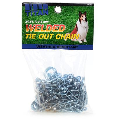 Coastal Presents Chain Welded Link Tieout 3.8mm 15. The Titan Series of Quality Chain Products is Argon Welded and Chrome Plated for Maximum Strength and Durability. This Process Produces Smooth Links that are Free of Burs, and Much Stronger than Electriwelded Chain. The Titan Series Includes Chokes, Training Collars, and Leads. These Superior Quality Chain Products will not Tarnish, Rust, or Break. [23578]
