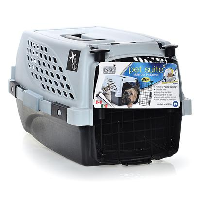 Noztonoz/Firstrax Presents Pet Suite Multi-Use Kennel 19' Double Door. Crate Pan Only. Mesh Floor Sold Separately! [23630]