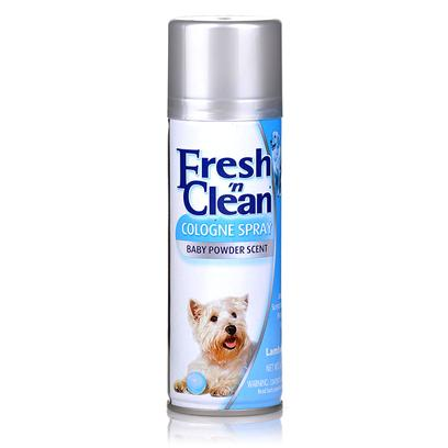 Lambert Kay Presents Fresh 'N Clean Cologne Spray for Dogs-Baby Powder Scent 6oz. 6 Oz Aerosol Gives the Pet a Pleasant Long Lasting Scent and Helps Control Body Odor Between Baths. Spray 10-12 Inches Form Pet. Spray from Head to Tail in Sweeping Motions. [23654]