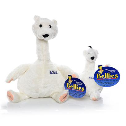 Petmate Presents Booda Bellies Toy Polar Bear Extra Large X-Large. Long Neck Makes it Easy for Dogs to Grab and Bite High Quality Plush Construction, Meets Children's Safety Standards Built in &quot;Grunt&quot; Sound will Drive Dogs Crazy [23719]