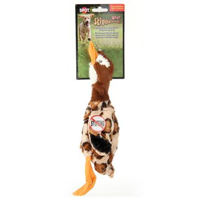 Ethical Presents Skinneeez Plush Goose 19' Spot Plsh Min. Bring out your Dogs Natural Hunting Instinct. Dogs will Enjoy Hours of Entertainment Flip Flopping our Stuffing Free Skinneez Toys. All Skinneez Toys have 2 Squeakers. 1 in the Head and 1 in the Tail for Double the Fun. [23745]
