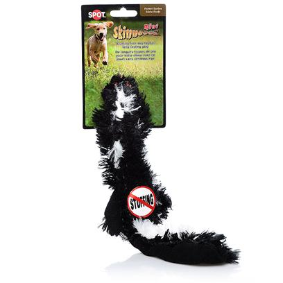 Ethical Presents Skinneeez Plush Skunk Mini 15' Spot Plsh. Bring out your Dogs Natural Hunting Instinct. Dogs will Enjoy Hours of Entertainment Flip Flopping our Stuffing Free Skinneez Toys. All Skinneez Toys have 2 Squeakers. 1 in the Head and 1 in the Tail for Double the Fun. [23774]