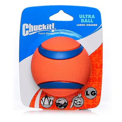 Canine Hardware Presents Chuckit Ultra Ball Large. Designed for the Most Demanding Use, this is no Ordinary Ball. Simply Put, this is the Best Ball for the Game of Fetch. Has a High Bounce, Floats, Very Visible and Durable, this Ball is also Compatible with the Chuckit Ball Launchers. Available in a 2 Pack. [23792]