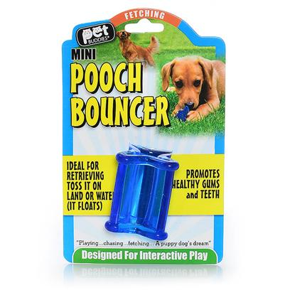 Kollercraft Presents Pooch Bouncer Mini Tranluscent Blue Kol (23800). Meet Pooch Bouncer. For Small Dogs. Toss it, Fling it, you Never Know which Way this Unique Toy will Bounce. Made from a Unique One-of-a-Kind Material, this Soft but Durable Toy is Ideal for Stuffing with Dog Biscuits. As you Pet Plays with Pooch Boun [23800]