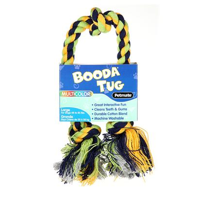 Petmate Presents Booda 3 Knot Rope Tug Multi-Color Extra Large Medium. Booda Rope Bones can be Used for Interactive Play or as Solo Dog Chews. Rope Bones are a Fun and Easy Way to Floss Dogs' Gums and Help Prevent Dental Disease in your Canine Companion. Booda Rope Bones have Tightly Twisted Yarns that Provide for Long-Lasting Durability. Booda Rope Bones are Available in Extra Small, Medium, Large and Extra Large Sizes for all Dogs to Enjoy! Case Pk 6 [23825]