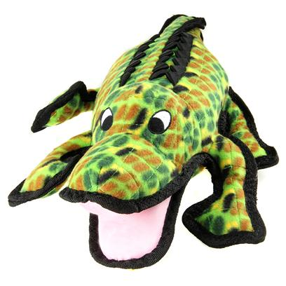 Tuffy's Presents Tuffy's Sea Creature Alligator Chew Toy Tuffys. Alligator- Gary-Gator is the Toy that Wont Bite Back. Soon to be your Dogs Best Friend. Fun for Every Dog. When your Dog is Tired he Makes a Great Pillow.Sure to be a Classic, the Alligator is Cute Enough for your Kid, yet Strong Enough for your Dog because it is as Durable and as Tough as the Real Thing. [23845]